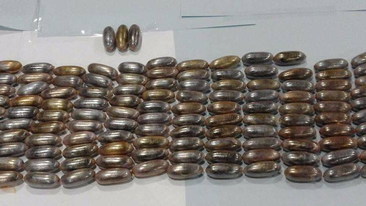 Más de ocho kilos de hachís incautados por la Policía Nacional