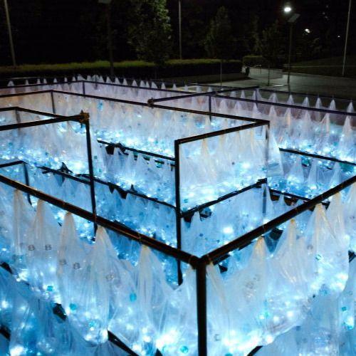 Un laberinto de botellas recicladas iluminarán la Plaza Mayor para celebrar su cuarto centenario