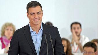 Pedro Sánchez durante su intervención ante el Comité Federal