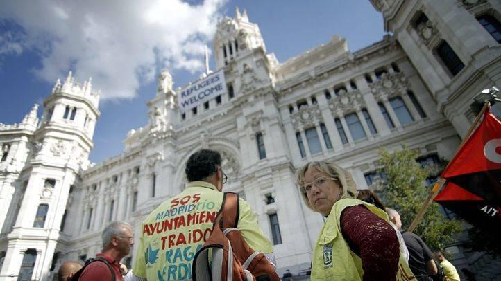 Protesta de los jardineros de Madrid Río