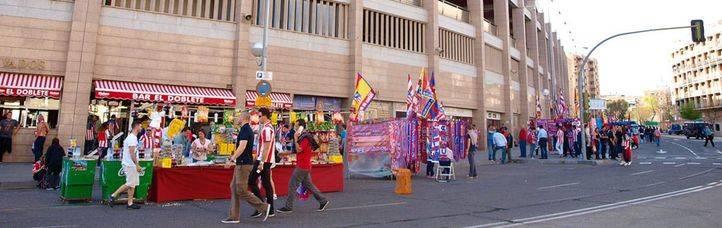 Aledaños del Estadio Vicente Calderón.