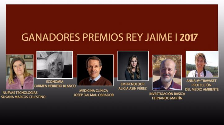 Martín, Herrero, Dalmau, Travaset, Marcos y Asín, Premios Rey Jaime I 2017