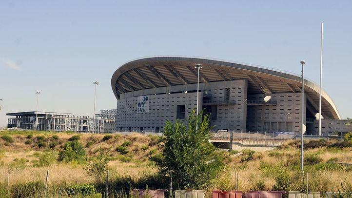 Estadio Olímpico La Peineta y centro acuático en obras.