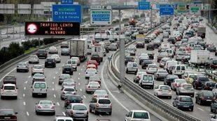 Alarma entre los conductores madrileños por los 'Lunes Negros'