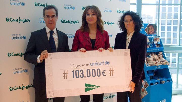 El Corte Inglés dona 103.000€ a UNICEF para mejorar las condiciones de vida de los más pequeños