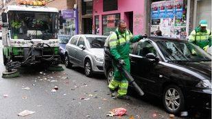Continúan las limpiezas intensivas en otras 18 zonas de la capital con 450 trabajadores
