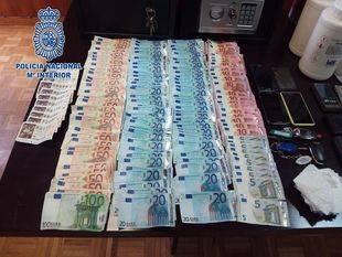 Dinero incautado en la Cañana Real