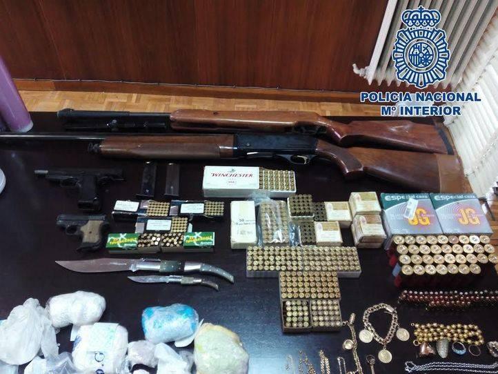 Armas incautadas en la Cañada Real