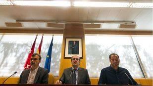 Los portavoces de PSOE, Podemos y Ciudadanos