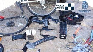 Detenidas nueve personas por robar y desguazar bicicletas de BiciMAD