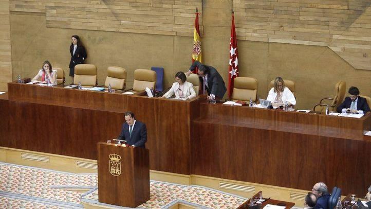 Los vicepresidentes de la Mesa de la Asamblea abandonan el Pleno