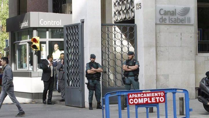 Operación de la Guardia Civil contra la corrupción relacionada con la gestión del Canal de Isabel II. (Archivo)