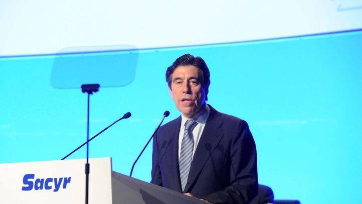 Manuel Manrique, presidente de Sacyr, durante la Junta General de Accionistas