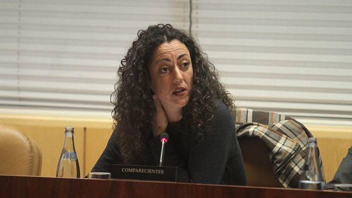 La portavoz de los afectados por la venta de viviendas del IVIMA, Sonia Martínez