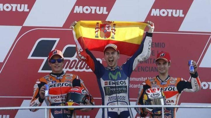 Jorge Lorenzo victoria y campeón del mundo de MotoGP