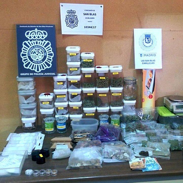 Tres detenidos en una asociación de cannabis de San Blas por venta de droga