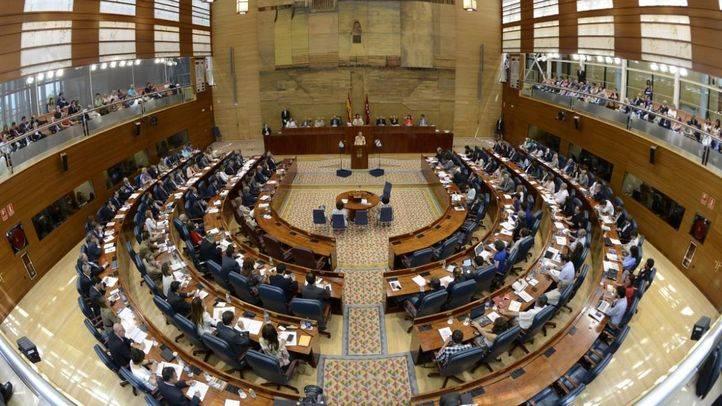 Sesión de investidura en la Asamblea de Madrid
