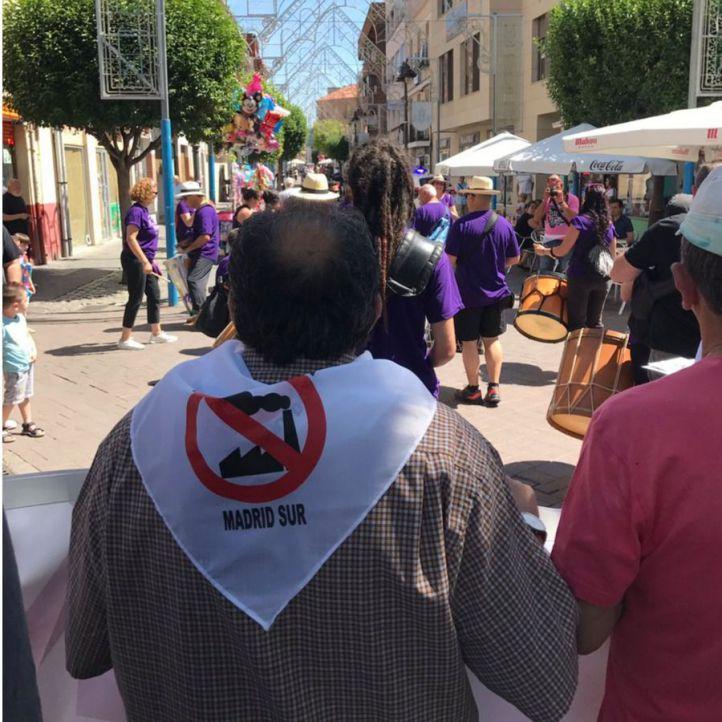 Protesta por la calle Madrid de Getafe