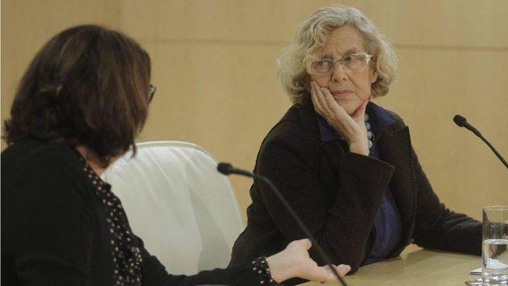 Carmena y Sabanés, en rueda de prensa para informar de la contaminación.