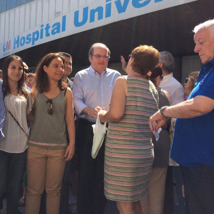Hernández y Gabilondo 'rodean' el Hospital de Móstoles