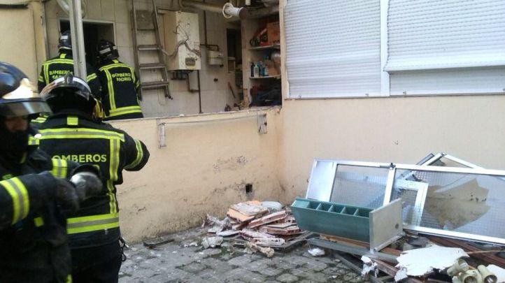 Herido grave tras una explosión de gas en Villaverde