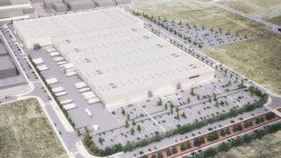 Recreación de la ampliación del centro logístico de Amazon en San Fernando de Henares