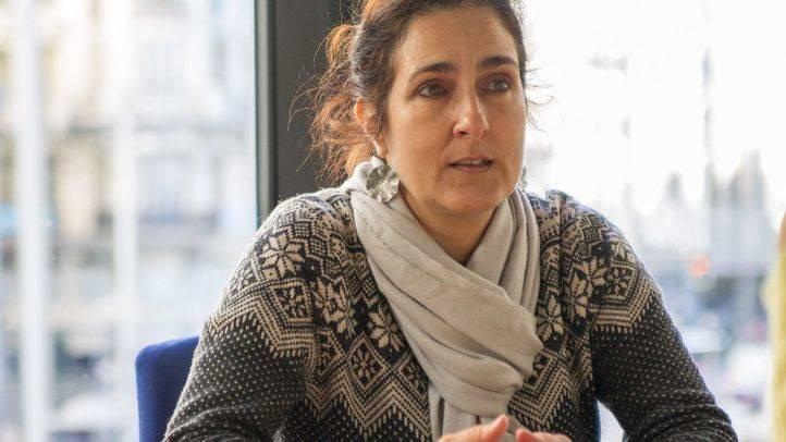 Sara Medialdea, en un instante de la entrevista.