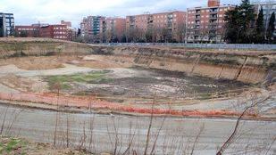 Parcela donde se ubicaba el antiguo estadio Vallehermoso.