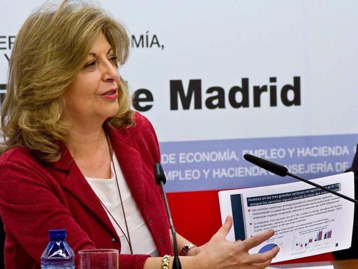 Engracia Hidalgo en la presentación del Balance de la Economía Madrileña del III Trimestre de 2015
