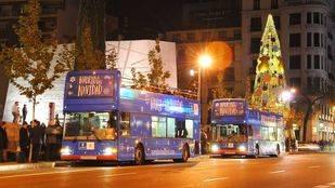 Vuelve el 'Bus de la Navidad' de la EMT, con su recorrido por las principales iluminaciones navideñas