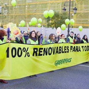 La Marcha Mundial por el Clima recorre el centro de Madrid