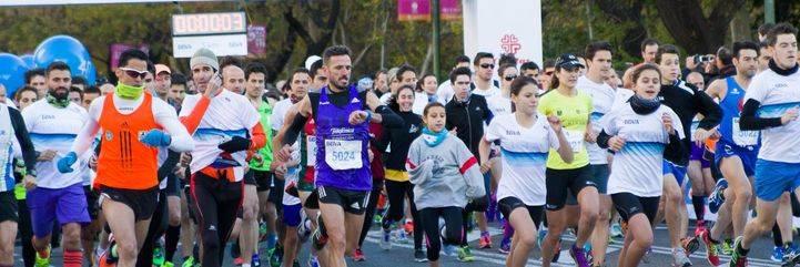 La IX Carrera Solidaria BBVA recorre el paseo de la Castellana