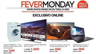 La web de El Corte Inglés celebra hoy el 'Fever Monday' con grandes descuentos