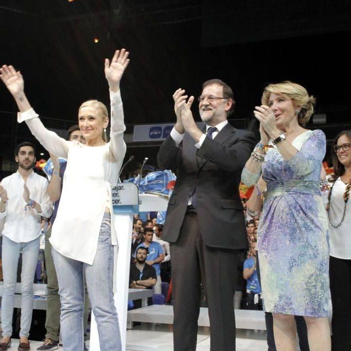 Cristina Cifuentes, Mariano Rajoy y Esperanza Aguirre (archivo)