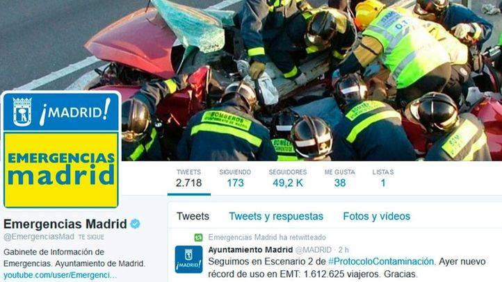 Emergencias Madrid utiliza por primera vez Twitter Alerts, con motivo de los episodios de alta contaminación