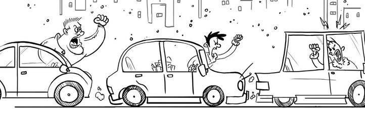 Un conductor agresivo provoca que los demás imiten su comportamiento