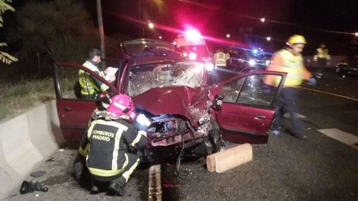 Herido grave un hombre de 30 años en un choque múltiple en la autovía A-6, en Madrid