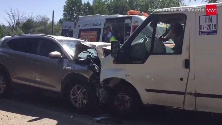 Un accidente entre dos coches en la M-511 deja cuatro heridos