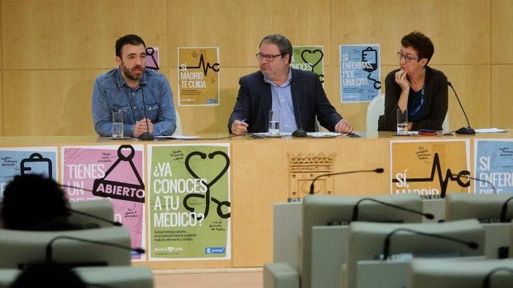 Javier Barbero,  Nacho Murgui, y Mercedes Martínez