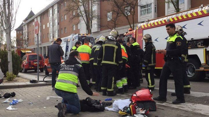 Herido muy grave un motorista atropellado en Las Rozas