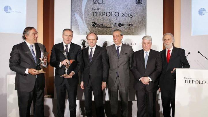 Juan Rosell y Alfredo Altavilla reciben el Premio Tiepolo 2015