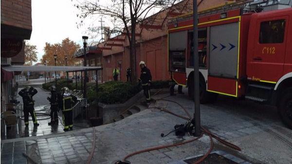 Incendio en una pizzería en Tres Cantos.