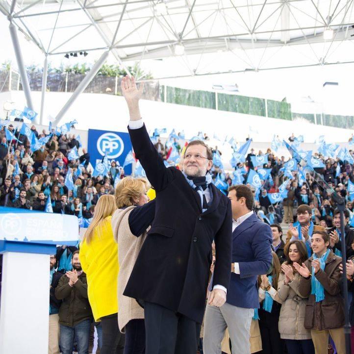 Mitin de campaña del PP en la plaza de toros de Las Rozas.