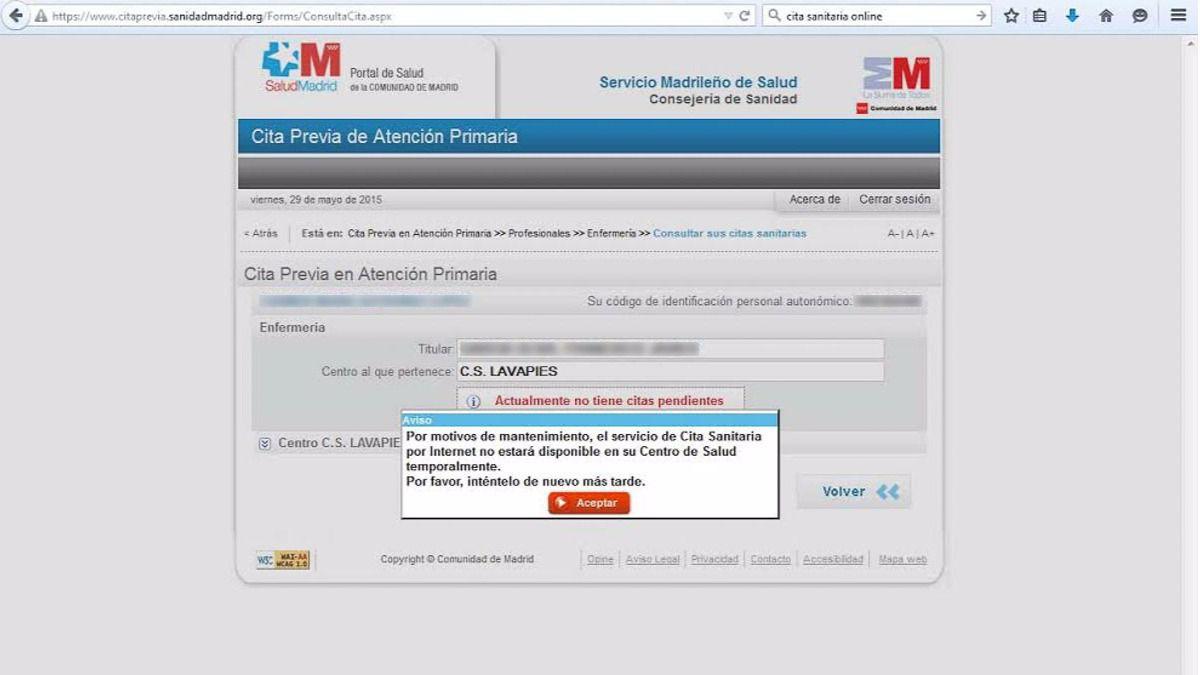 :: Cita previa para el médico en la Comunidad de Madrid 12222: Salud Madrid (cita online)