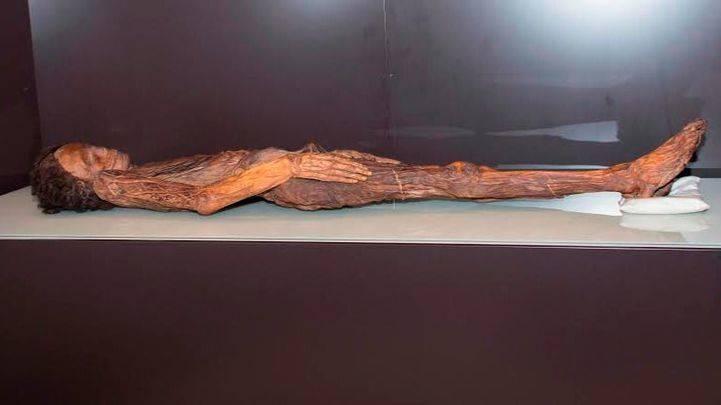 Traslado de la momia guanche al Museo Arqueológico Nacional