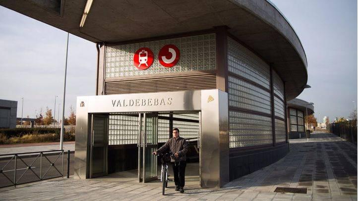 Nueva estación de Cercanías de Valdebebas.