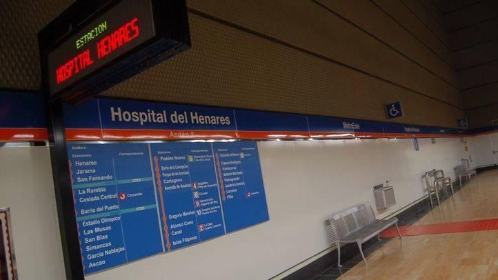 Línea 7 del Metro a su paso por Hopital de Henares