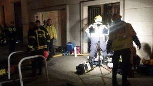 Una pareja de ancianos muere en el incendio de su vivienda en Chamberí mientras dormían