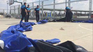 Cuatro heridos en Leganés en unos castillos hinchables