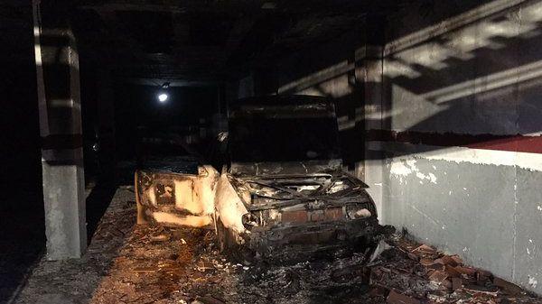 Seis intoxicados leves por el incendio de un coche en Ajalvir